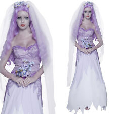 Ladies Corpse Bride Costume Halloween Zombie Gothic Ghost Fancy Dress Outfit