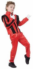 Superstar, Red Jacket/Trousers, Michael Jackson Fancy Dress Costume, Boys