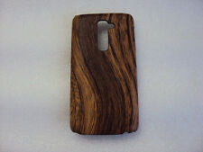 For LG G2 Rubberized Wood Grain Designer Hard Back Case Cover
