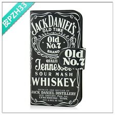 Sale nostalgia beer dark jack daniels PU LEATHER FLIP Case COVER for LG Optimus