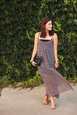 NWT ZARA_ LONG PRINT DRESS WITH LACE 2013 COLLECTION size M