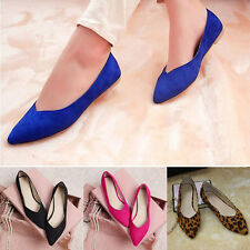 New Women Comfort Pointed Toe Casual Slip Flat Ballet Shoes Pumps Sandels