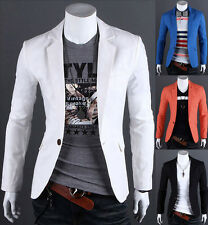 Hot ! 6 colors Stylish Men's Casual Slim fit One Button Suit Blazer Coat Jackets