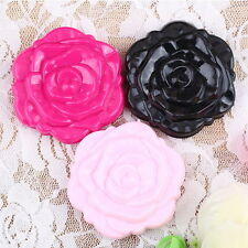 Retro Rose Flower Shape Cosmetic Makeup Compact Mirror 3D Stereo Double Sided FE