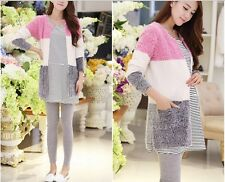 2014 new fashion spring andautumn long sleeve mohair coat for pregnant women
