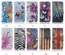Designer Flip Leather Wallet Case Card Holder Cover Hard Skin For Samsung Series