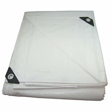 WHITE HEAVY DUTY TARPS UV TREATED TARP CANOPY BOAT COVER SUN SHADE TARP