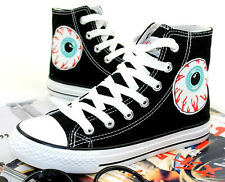 Fashion Korean Style Harajuku Evil Eyes Canvas Shoes Lovers Casual Lace Sneaker