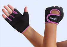 Cycling Bike Bicycle Rubber Hand Guard Sports Half Finger Glove Free Shipping