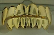 14k Gold or Silver Fanged Grillz, Top & Bottom set