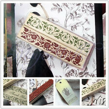 Wooden Rubber Stamp Flower Lace Handwriting Floral Scrapbooking Craft Vintage J