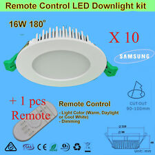 11/16/20W 180° Beam angle Dimmable LED Downlight Kit -Warm, Daylight, Cool White