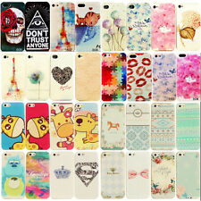 New For iphone 4/4S Dream Painted Colorful Soft Case Silicone Skin Back Cover