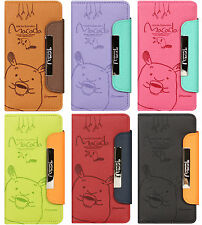 SAMSUNG Galaxy Note 3 Neo SM-N750 Case Cute Character Flip Cover Touch Up MAKADA