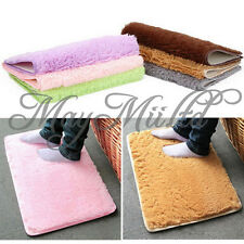 New Doormat Absorbent Bathroom Floor Rug Plush Velvet Slip Mats Washable Dust J