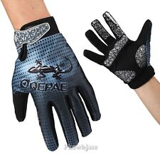 Trendy Mens Vintage Totem Print Racing Mountain Bike Cycling Full Fingers Gloves