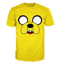 ADVENTURE TIME, Jake face T-shirt. Inspired by the hit TV show Adventure Time.