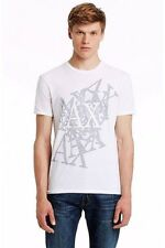 New Armani Exchange AX Mens Slim Muscle Fit Layered Logo Tee Shirt e6x612