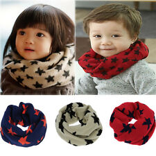 Kid Children Toddler Boy Girl Knitted Woolen Winter Warmer Scarf Snood Xmas Gift