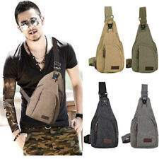 Men's Canvas Military Messenger Shoulder Travel CyclingHiking Fanny Bag Backpack