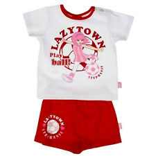 Bnwt Lazytown Mädchen Stephanie 2 - Pc Sommer Outfit T - Shirt + Shorts Fußball