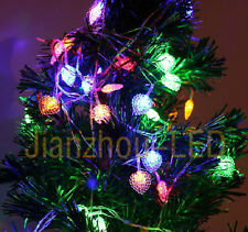 10M XMAS Tree String Light RGB Fairy LED Party Flash Bubble Lamp 100LEDS AC220V