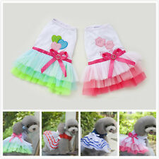Hot Various Pet Puppy Small Dog Cat Love Kiss Lace Strip Dress Apparel Clothes