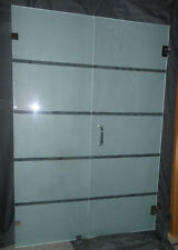 Frameless Shower Door Frosted or Clear with hardware Polished Tempered,