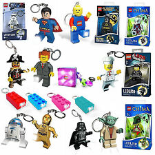 Lego Star Wars Movie Super Heroes Friends Brick LED Light Keyring Brand New Gift