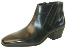Giorgio Brutini Men's Blackjack Leather Zip Up Ankle Demi Boots Black 15548