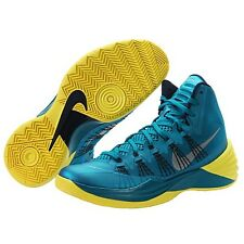 New Mens Nike Hyperdunk 2013 Basketball Shoe Teal/Navy/Yellow 599537-300 ***