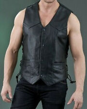 Mens Leather Vest Light Weight