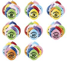 "20 x 9"" Air Fill Only Balloons Assorted Colour Various Ages Birthday Party"