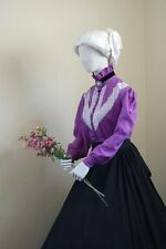 I-D-D Re-enactment Dickens Western Victorian size:L/Xl Blouse With Lace