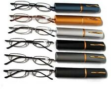 SLIMLINE Tube Metal Readers Lightweight with Clip Case