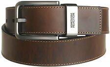 """KENNETH COLE REACTION Men's Brown Out 1-1/2"""" Leather Reversible Belt New"""