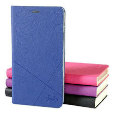 High Quality PU Leather Case Flip Cover + Screen Protector for Lenovo Phone