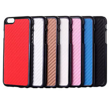 Carbon Fiber Texture Hard Cover Case Screen Protector for iPhone 6 and iPhone 6S