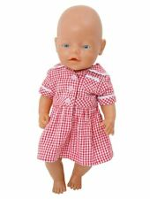 COMPLETE SUMMER UNIFORM FOR 43 CM BABY BORN DOLL  DRESS/CARDY /BOOKBAG /SHOES