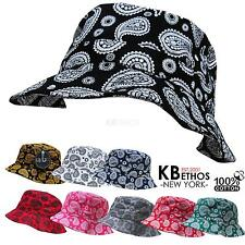 Bucket Hat Boonie Paisley Hunting Fishing Outdoor Cap Unisex 100% Cotton NEW