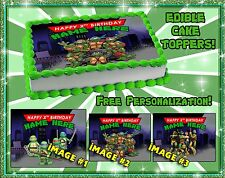 Teenage Mutant Ninja Turtles Edible Cake Topper picture birthday sugar paper