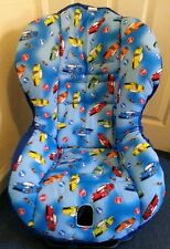 COSY-LOU CAR SEAT COVER RACING CARS, BRITAX MAXI COSI, free harness pads, padded