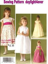 Formal Flower Girl Pageant Dress Pattern 4647 Simplicity NEW Princess Costume