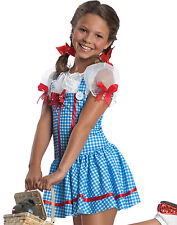 Dorothy Wizard Of Oz Girls Fairytale Kids Halloween Blue Fancy Dress Costume S-L