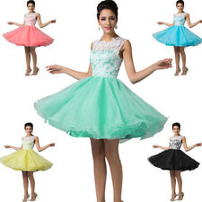 2014 short Tulle Evening Prom Wedding Bridesmaid Dresses Formal Ball Gowns 2-16