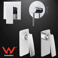 WaterMark Bathroom Brass Square/Round Shower Mixer Wall Faucet Cold Hot Tap
