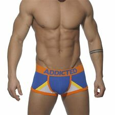 ADDICTED Underwear Cotton Boxer With Mesh Inserts, Blue
