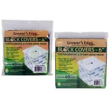 """Grower's Edge Block Covers for Rockwool & Other Grow Media 4"""" 6"""" Inch"""