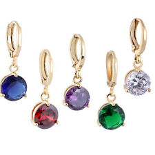 1Pair Fashion Ladies Jewelry 18k Yellow Gold Filled Dangle Drop Earrings