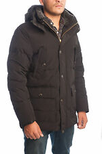 BLACK DOWN PARKA IN NLON MODEL POCONO WOOLRICH MEN f/w 18I04